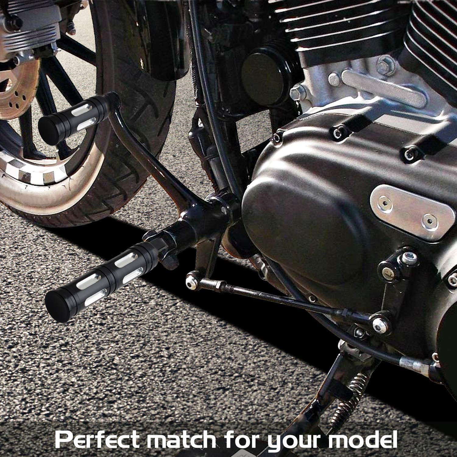 Nthreeauto Male Mount Footpegs Cnc Billet Aluminum Foot Pegs Motorcycle Footrests Pedal For Harley Sportster 1200