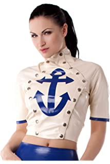 With Black Pearl Top Suspender Panache Latex Sheen Silver Rubber 0p8qw