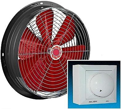 350mm Ventilador con 500W Regulador de Velocidad Ventilación ...