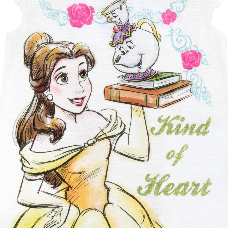 Disney La Bella y la Bestia - Camiseta para niñas - Beauty and The ...