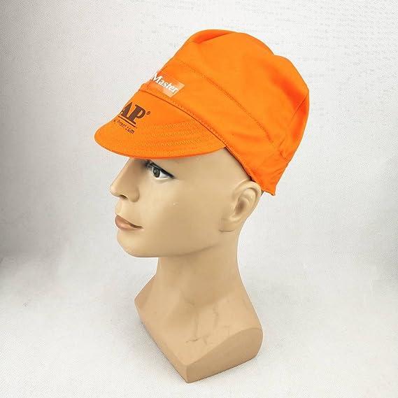 Gorra de soldadura, lavable, tela retardante de llama, algodón con certificado CE, capucha de soldadura de seguridad: Amazon.es: Bricolaje y herramientas