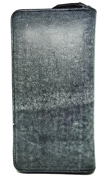 63fa85c2bbef ブラック F 本革 ブライドル レザー 長財布 メンズ 財布 本革 ラウンドファスナー 薄型 大