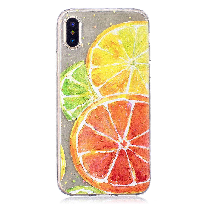 Cozy Hut iPhone X/iPhone XS Hü lle Case, Transparent Dü nn Soft-Flex Handyhü lle/Bumper-Style Premium-TPU Silikon/Kratzfest Schutzhü lle fü r iPhone X/iPhone XS - Shopping Girl