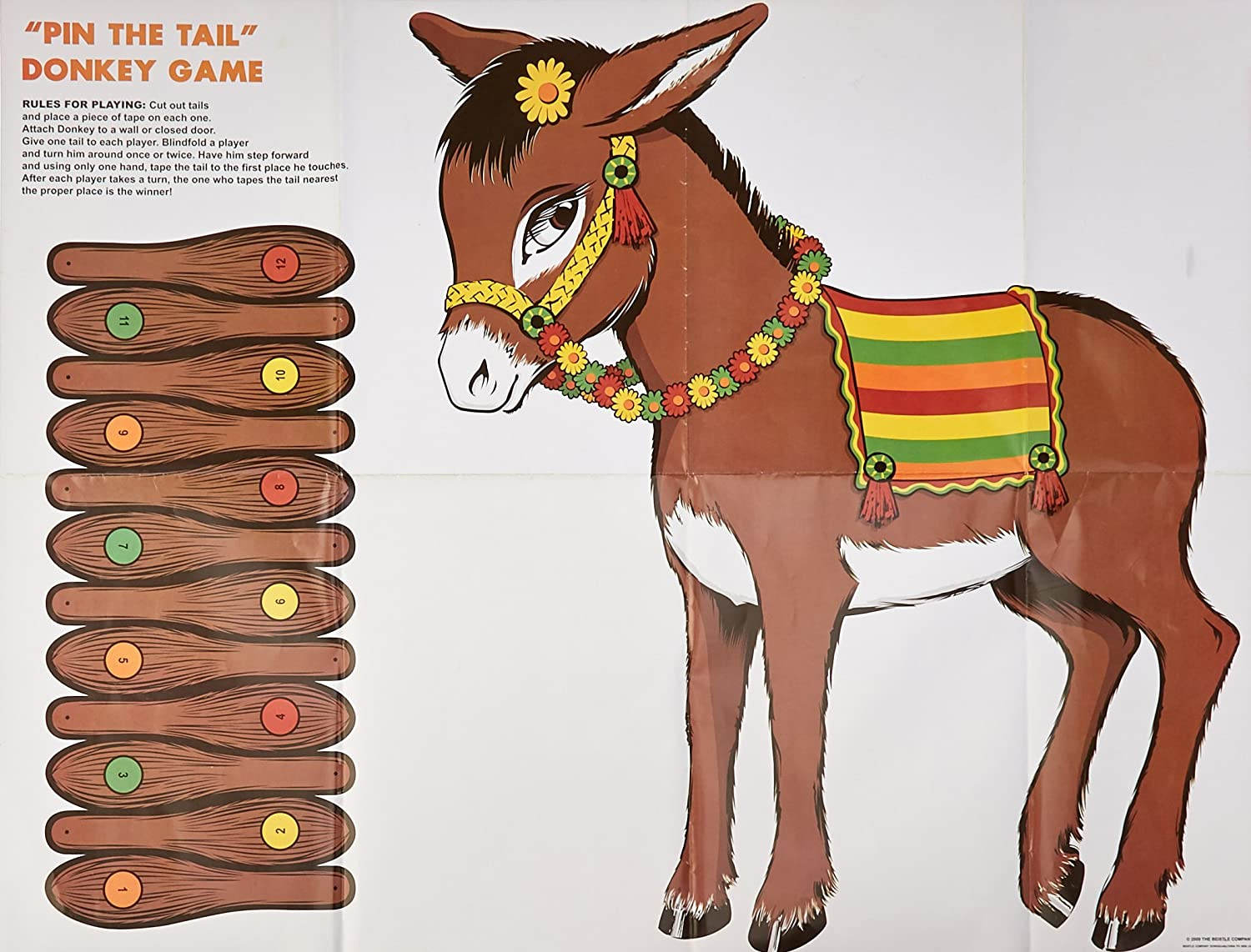DELUXE DONKEY Party Game Childrens Birthday Game pin the tail on the donkey