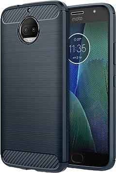 MoKo Funda Motorola Moto G5S Plus Ultra Slim Ligero Fibra de ...
