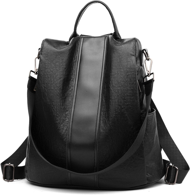 Women Soft Leather Waterproof Backpack