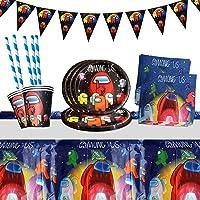 Yisscen Juego de vajilla para fiestas, decoración de cumpleaños para niños, fiestas de cumpleaños infantiles, platos…