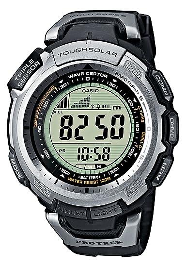 Casio PRO TREK - Reloj digital unisex de cuarzo con correa de resina negra (altímetro, alarma, brújula) - sumergible a 100 metros: Casio: Amazon.es: Relojes