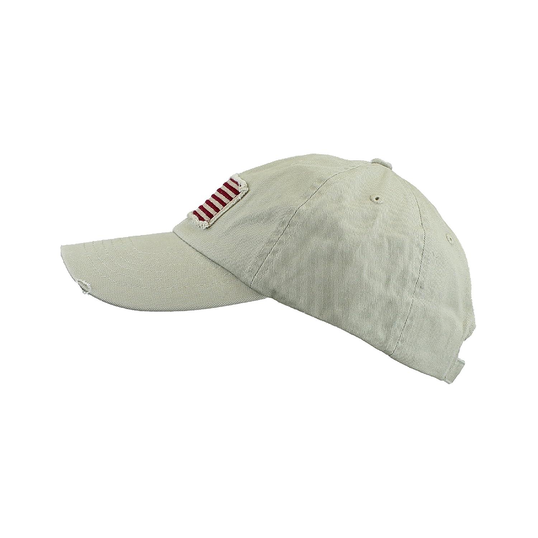 cfa1a34003e3 Dorfman Pacific Femme Kaki Tan Coton Twill Hat - Vintage effiloché Drapeau  Casquette de Baseball américain Taille Unique Kaki Tan  Amazon.fr   Vêtements et ...