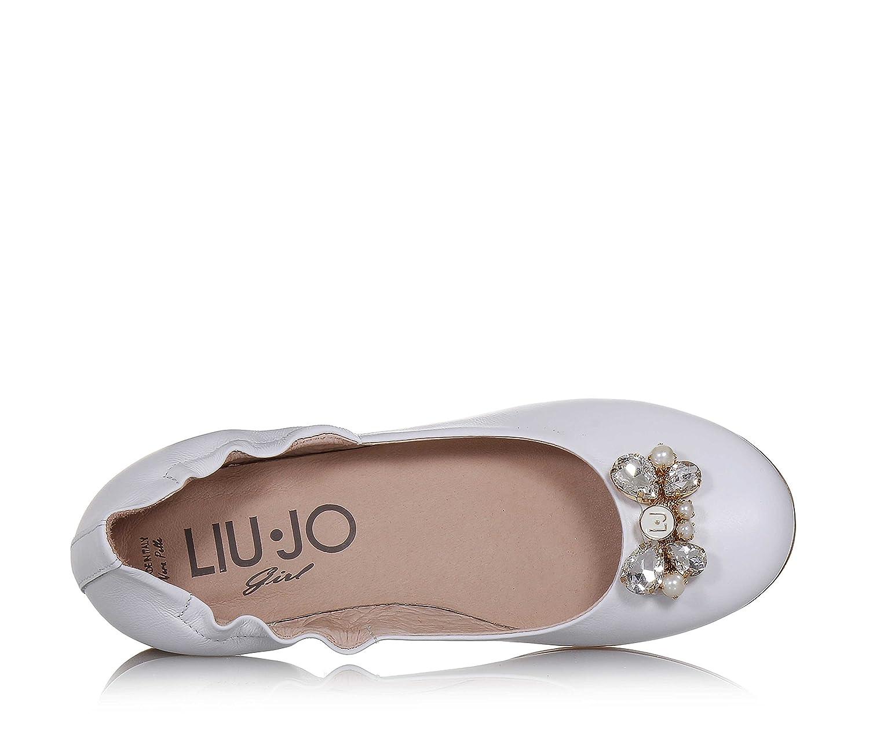 Liu Jo Jeans Girls' Ballet Flats White Size: 6 UK: Amazon.co.uk: Shoes &  Bags