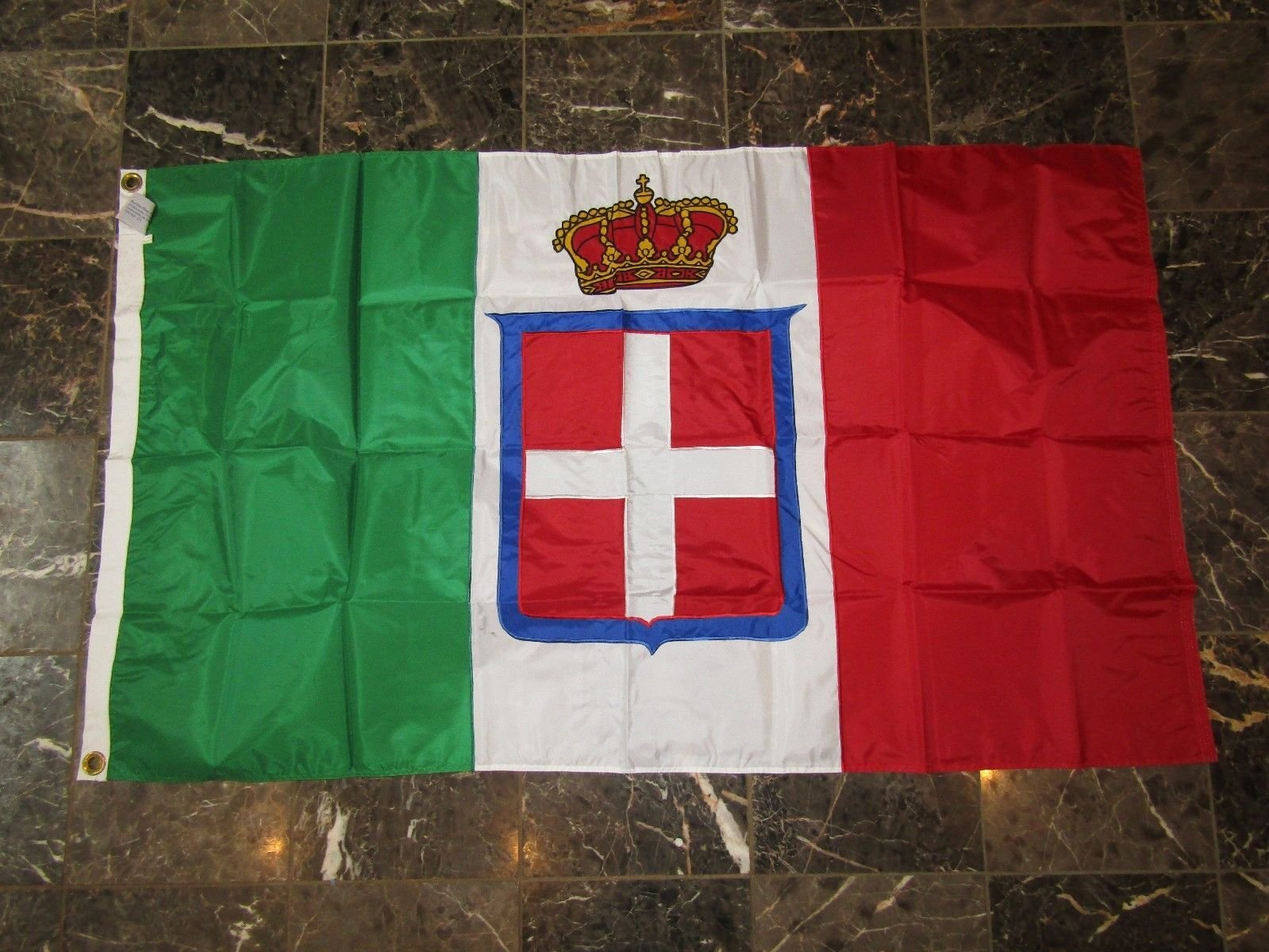 3X5 Embroidered Sewn Kingdom Italy Royal Crown Nylon Flag 3'X5' Brass Grommets