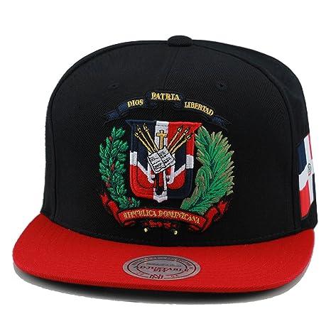 9b30c89cfbf903 Amazon.com: Mitchell & Ness Dominican Republic Snapback Hat Cap Black/Red/DR  Emblem: Sports & Outdoors