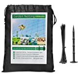 "Bird Net 25' x 50' Garden Netting with 1"" Square Mesh Protect Fruit Tree, Plant & Vegetables from Poultry, Deer and…"