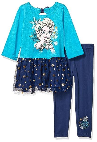 e77be7b4d0850 Amazon.com: Disney Toddler Girls' Frozen 2-Piece Legging Set, Blue ...