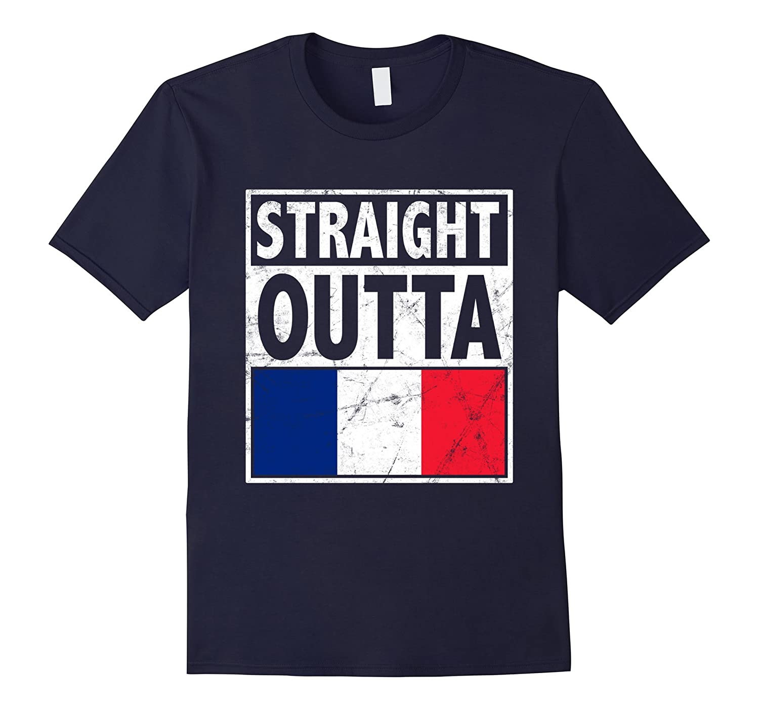 Bastille Day Shirt - Straight Outta France for July 14-BN