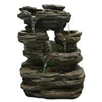 Zen'Light SCFR130 Nature Water Feature Grey stone, 25 x 17 x 35 cm