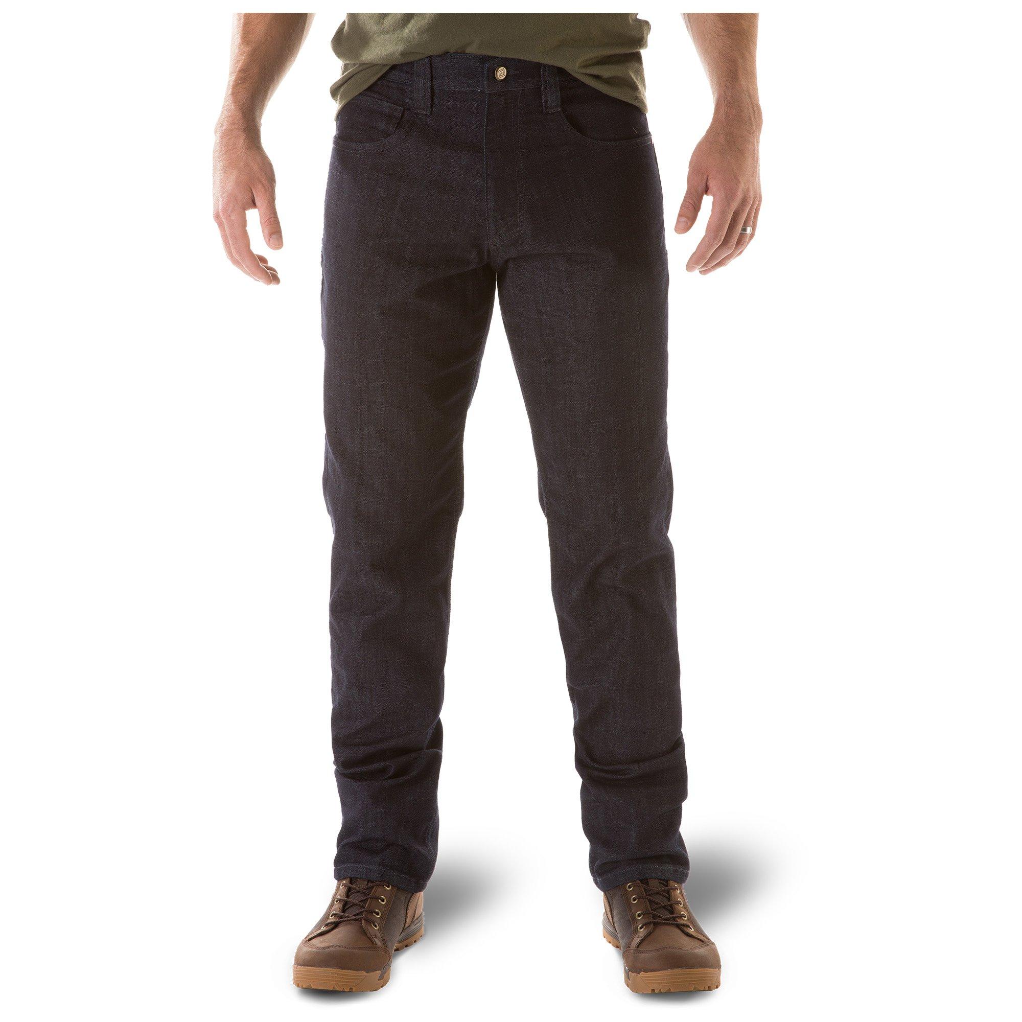 5.11 Mens Defender-Flex Jean Slim Fit Tactical Pant, Sytle 74465, Indigo, 30Wx30L