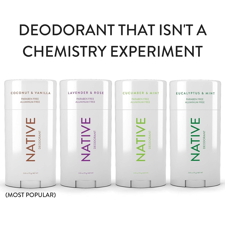 Native Deodorant - Made without Aluminum & Parabens - Cucumber & Mint