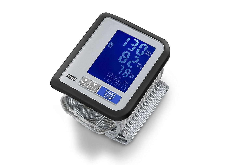 ADE Tensiómetro de muñeca digital BPM1600 compatible con App. gratuita FITvigo medición presión oscilométrica, pulso y aviso de arritmia.