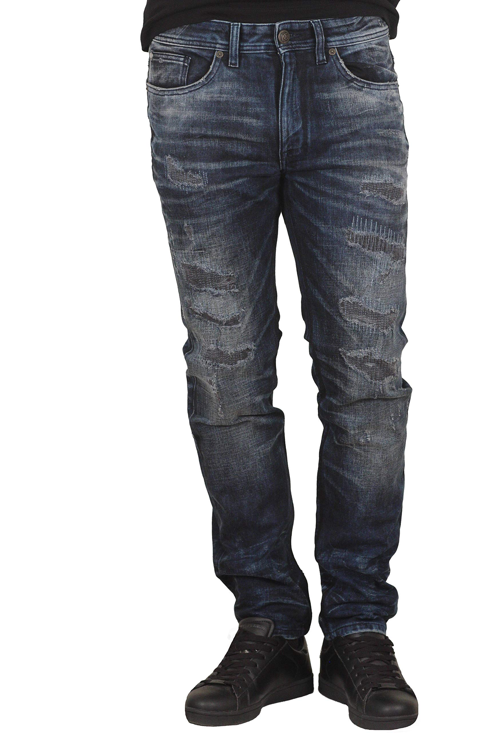 JC Atelier Premium Distressed Jeans from Jordan Craig by JC Atelier