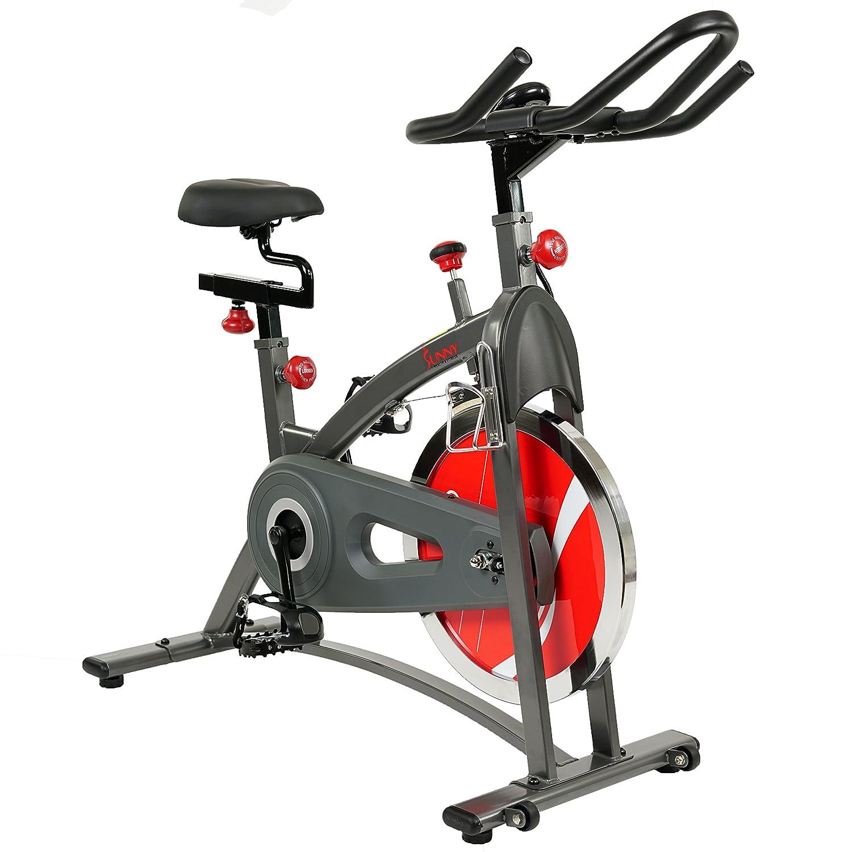 sunny health u0026 fitness sfb1423 belt drive indoor cycling bike