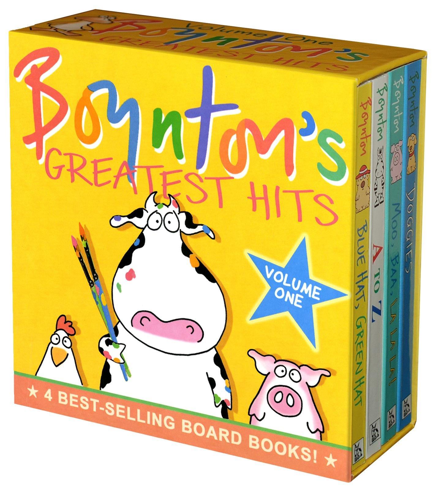 Boynton's Greatest Hits Volume 1: Blue Hat, Green Hat; A to Z; Moo, Baa, La La La!; Doggies (Boynton Board Books) by Little Simon (Image #1)