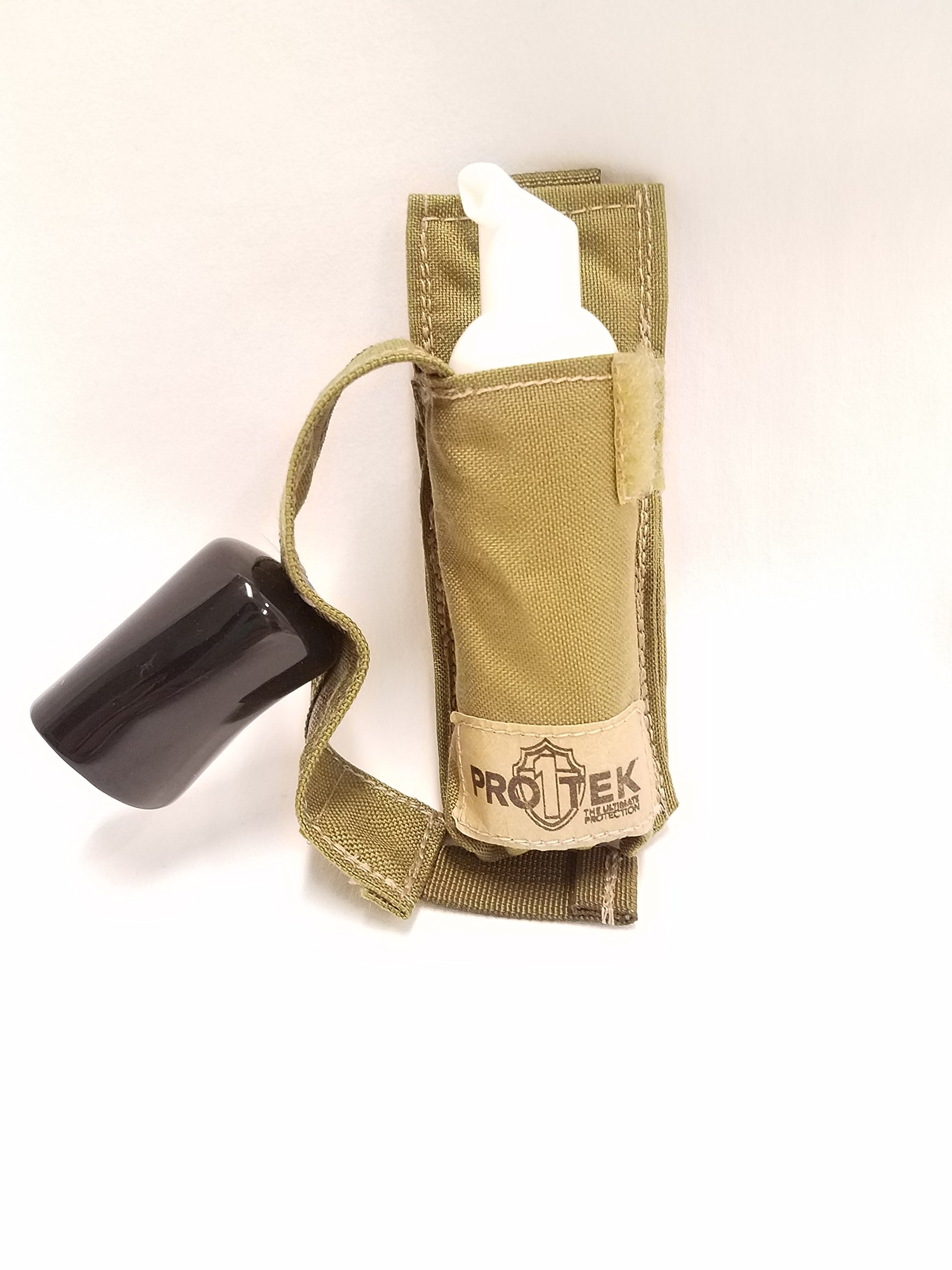 PRO1TEK 50ML SANITIZER WITH COYOTE TAN PROTECTIVE COVER- CASE OF 21 by PRO1TEK (Image #1)