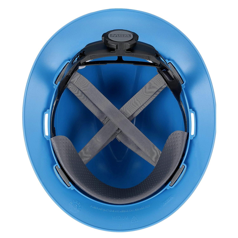 Polyethylene Standard Size Blue 6.12 Height x 12.12 Length x 10.38 Width MSA 475368 V-Gard Cap and Hats