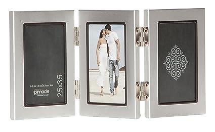 Amazoncom Pinnacle Frames Triple Silver Desk Frame With Black