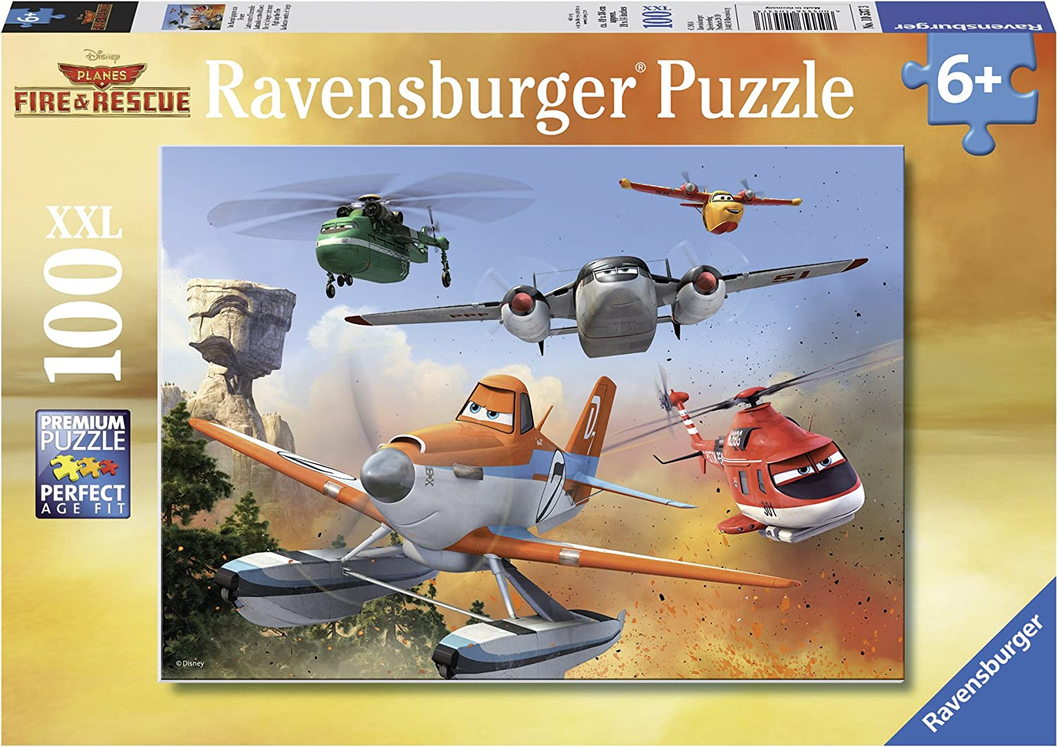 Ravensburger Disney Planes Fire Rescue Fighting The Fire 100 Piece Jigsaw Puzzle For Kids Every Piece Is Unique Pieces Fit Together Perfectly Toys Games Amazon Com