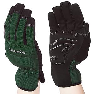 AmazonBasics Women's Work or Garden Gloves - Extra Large, Green