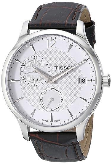 Tissot Tradition GMT T0636391603700 reloj cuarzo para hombre: Amazon.es: Relojes