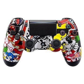 eXtremeRate Carcasa Mando PS4 Funda Delantera Protectora de la Placa Frontal Antideslizante Cubierta de reemplazo para Mando del Playstation 4 PS4 ...