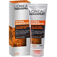L'Oréal Paris Men Expert Hydra Energetic All in One Moisturiser, Aftershave and Face Cream, for Dry and Tired Skin, with…