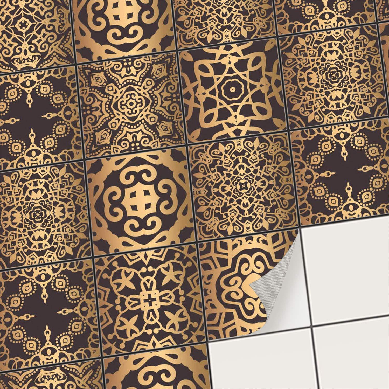 Creatisto Fliesenfolie Fliesenaufkleber Mosaikfliesen - Aufkleber Folie für Fliesen   Stickerfliesen - Mosaikfliesen für Küche, Bad, WC Bordüre (15x15 cm   54 -Teilig)