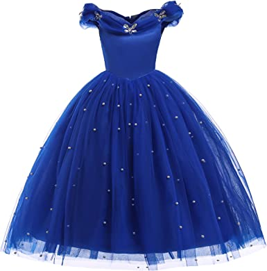 Amazon.com: Dressy Daisy Niñas Princesa Cenicienta vestido ...