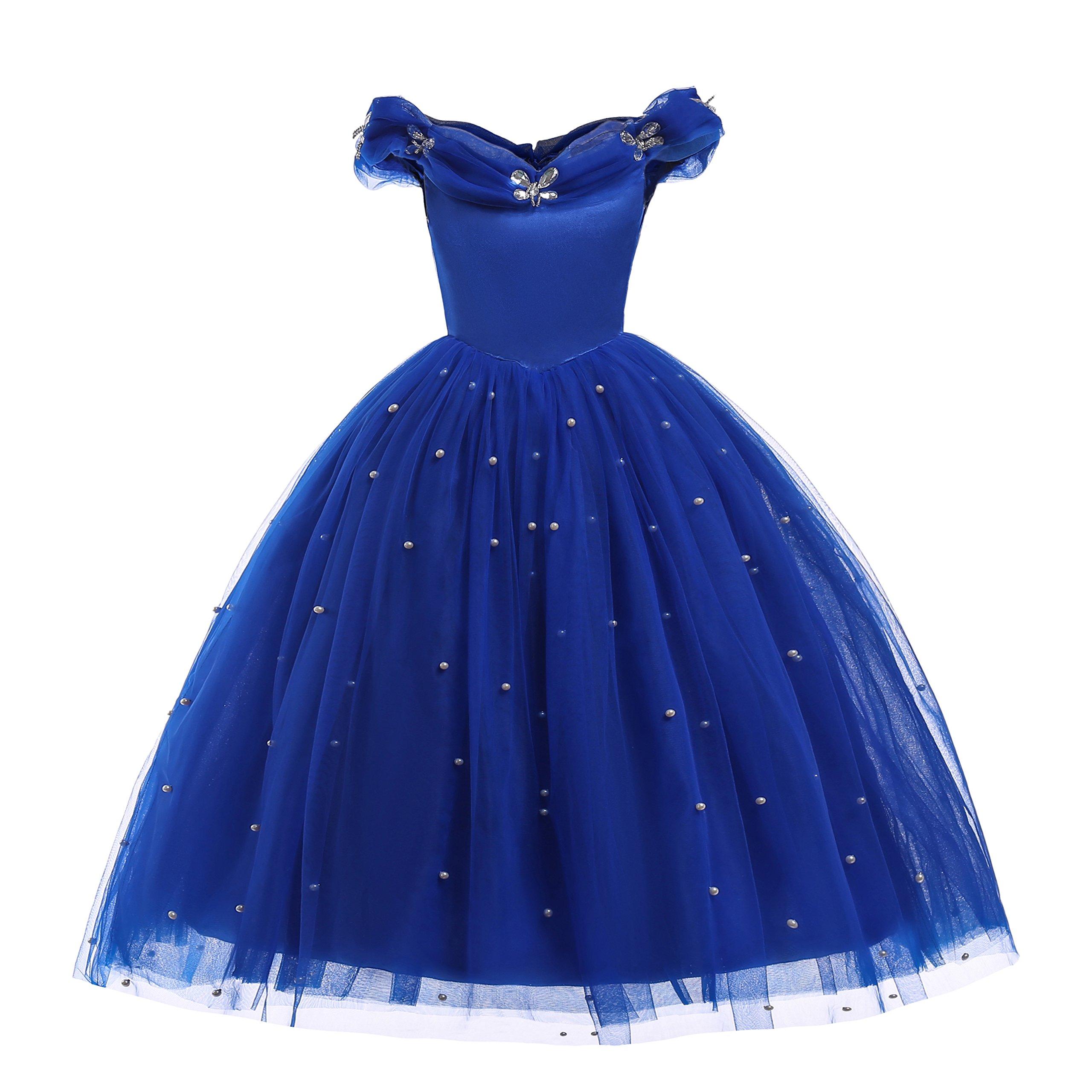 Dressy Daisy Girls Princess Cinderella Dress Costumes Flower Girls Dress Pageant Dresses Size 5/6