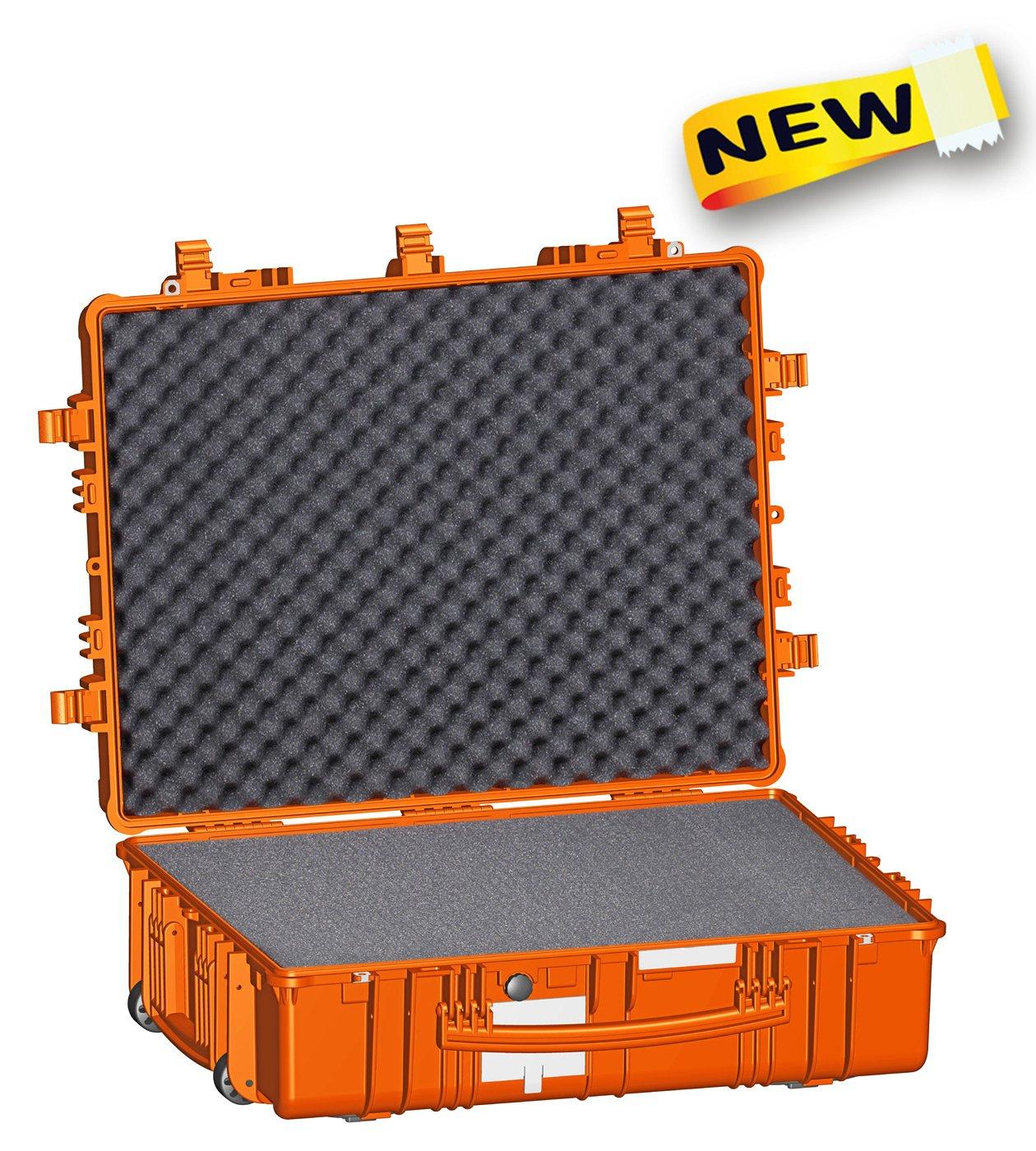 Explorer Cases 7726 O防水防塵多目的保護ケースwith Foamとホイール、オレンジ B01LB7V2A2