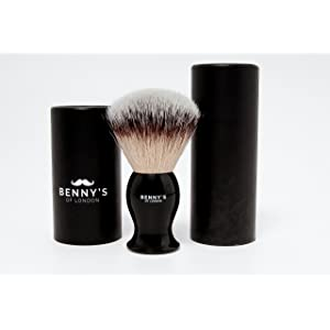 SHAVING BRUSH - Benny's of London - Luxury Shave Brush - Perfect for Home or Travel - Must Have Present for Mens Grooming Set