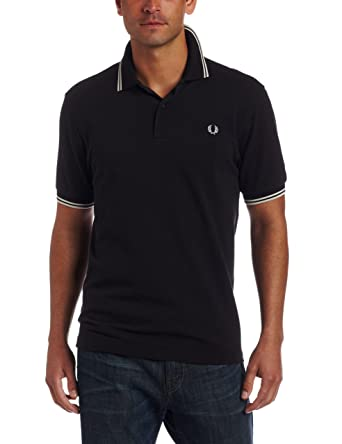 Fred Perry - Polo para Hombre Black/Porce/Porce 42: Amazon.es ...