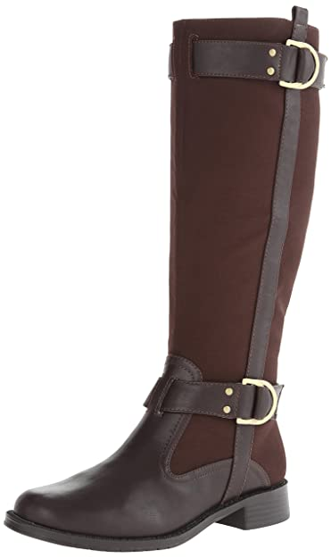 Aerosoles Women's Ride Line Riding Boot,Brown Fabric,6 ...
