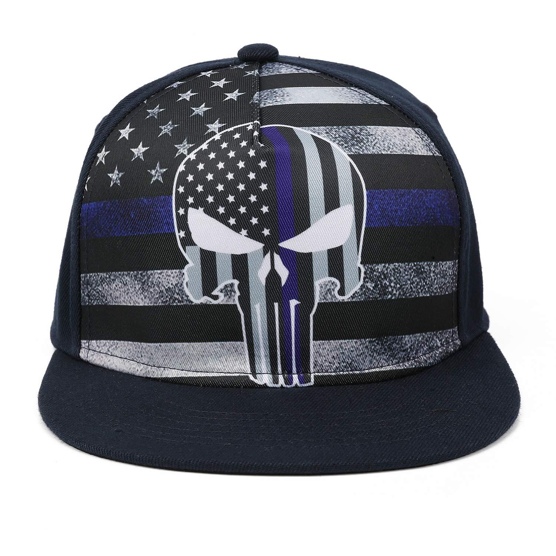 13b1fd8c05d Odelia Walter Skull Flag Flat Bill Snapbacks Mesh Baseball Caps Trucker Hat  (Colorful Flag Skull) at Amazon Men s Clothing store