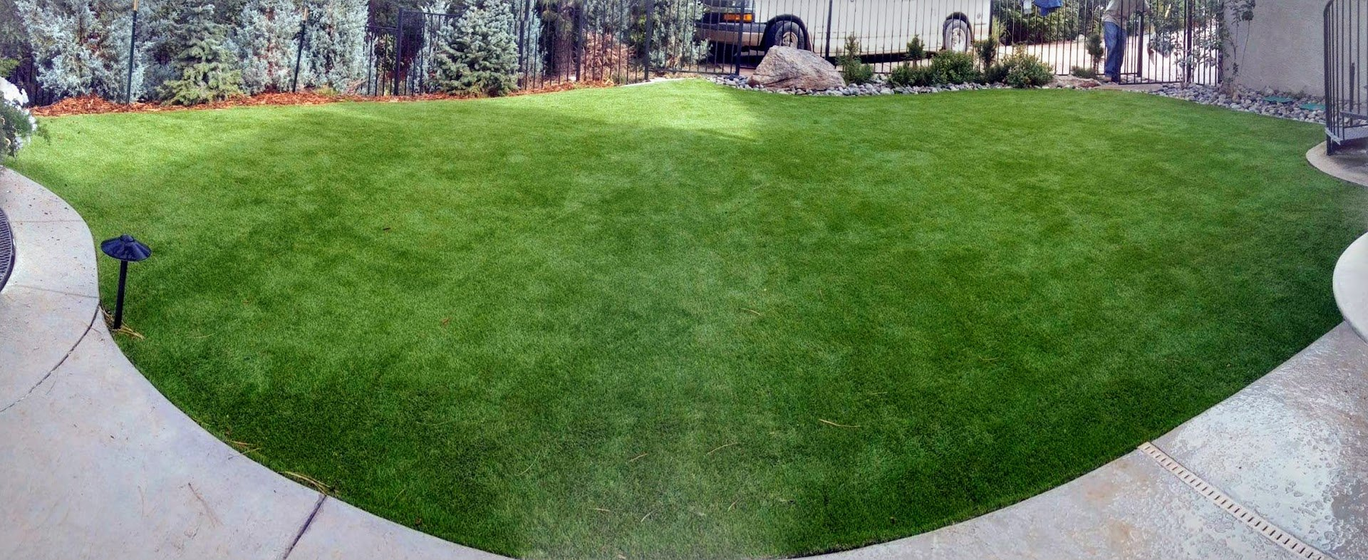 All Season Prime Synthetic Grass - Artificial Turf - Drainage Holes, 2'' blades Great for Sunny Climates (10' x 15') by Turf Pros Solution (Image #9)