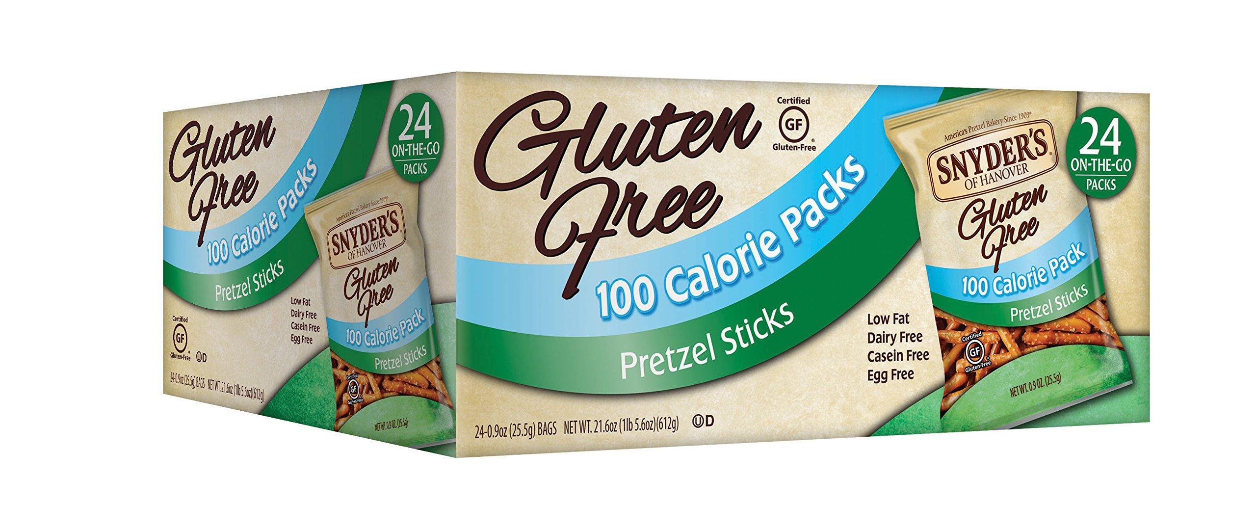 Snyder's of Hanover Gluten Free 100 Calorie Pretzel Sticks, 24 Count