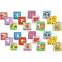 Inky Pinky Soft Poly Cotton Kids Cartoon Print Face Towel (25 X 25 cm, Multicolour) -Set of 12 Pieces