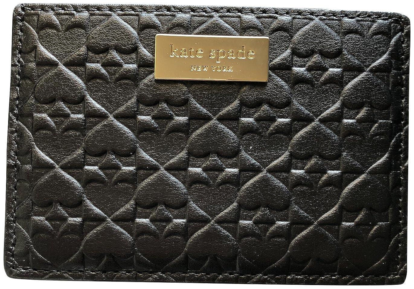 Kate Spade Graham Embossed Wallet Business Card Holder Credit Card Case Black