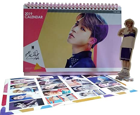 BTS Jimin Desk Calendar 2019 2020 with Jimin Mini Standing Figure + Special 2-Sided Photocard (Jimin)
