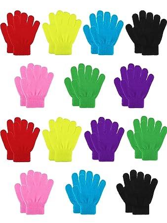 5 Paare Kinder Magie Handschuhe Fäustlinge dehnbar Gestrickte Winterhandschuhe