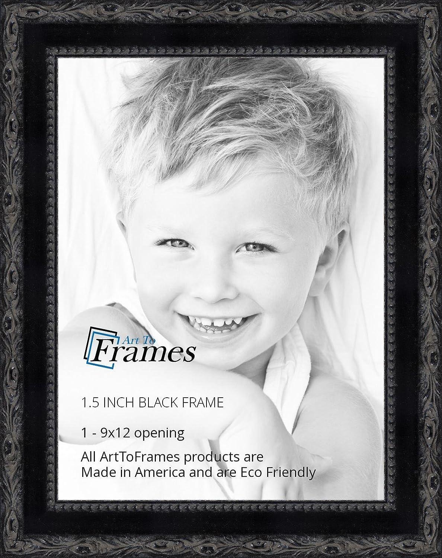 Amazon.com - ArtToFrames 9x12 inch Black Frame with engraved edges ...