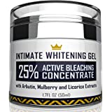 Intimate Whitening Cream - Made in USA Skin Lightening Gel for Body, Face, Bikini and Sensitive Areas - Underarm Bleaching Cr